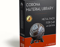 Corona material library Cinema 4D - Metal - 4K Edition