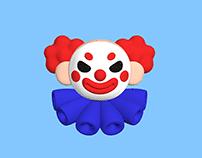 3D illustration Clown