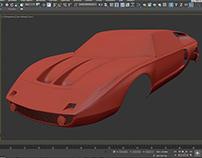 Mercedes C111 Car Modeling WIP