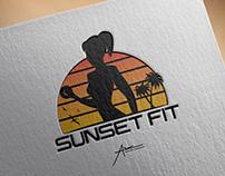 """Logo Design """"Sunset Fit"""" Mockup"""