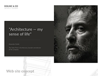 | DOLNIC & CO | Web site concept for architector