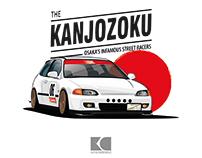 Honda Civic EG6 Street Racer Illustration
