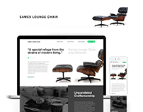 Eames Chair Landing Page