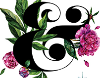 The ampersand in peonies company.