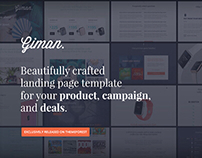 Giman Product Showcase/Campaign and Deals Landing Page