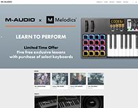 M-Audio x Melodics Slider