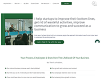 Helped Management Consultant With Bespoke Website
