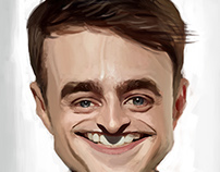 Daniel Radcliffe caricature