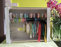DIY ribbons and washi tape holder