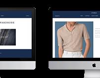 menswear website design