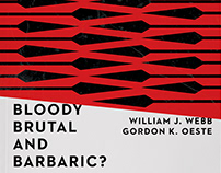 """Bloody, Brutal, and Barbaric"" Book Cover Design"