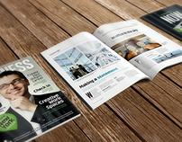 A4 Brochure Magazine Mockup 6
