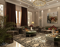 Neoclassical Living Room