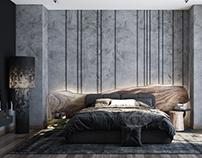 Bedroom in dark