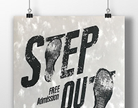 Event Poster Design | Step Out - Sneakers Exhibition