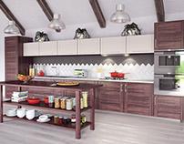Kitchen - 3D visualization