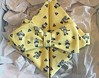 Theodore the Robot Bow Tie & Pocket Square