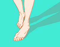 Don't walk barefoot!