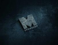 Free Grunge Metal Logo PSD Mockup