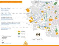 Pedestrian areas, bike lanes & openspace in Caspe