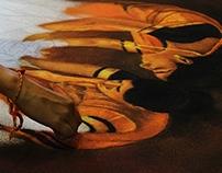 FLAMES OF FAITH & FORTUNES RANGOLI