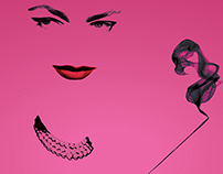 Lauren Bacall Exhibition Poster