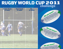 Print + Digital - Rugby World Cup Challenge Campaign