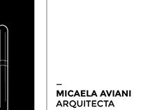 Logotype Micaela Aviani Arquitecta