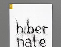 Hibernate, book cover design for Elizabeth Eslami
