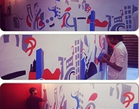 Abstract street : Wall art