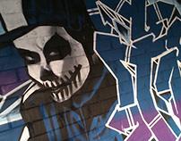 Trick'R Treat Graffiti Art-Mural