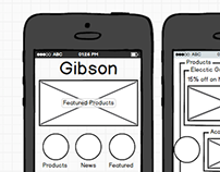 Short Wire frame mockup for Gibson