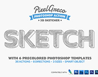 3D Sketcher - Photoshop Action