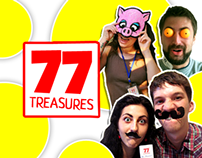 77 treasures game concept and graphic design