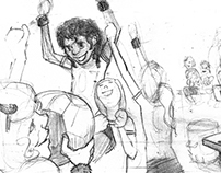 UNPUBLISHED storyboard, character dev. & paneling work.