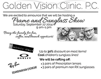 Logo and Mailer for Golden Vision Clinic