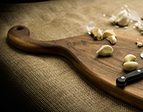 Handmade cutting boards photography
