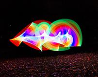 Pixelstick i bevægelse