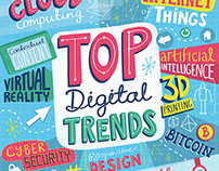Top Digital Trends - typographic illustration