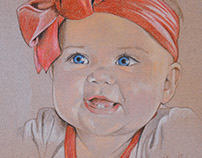 Baby Portraits - Pastel & Pencil