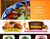 Mexican food and antojitos restaurant website