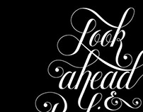 Look Ahead & Believe Lettering