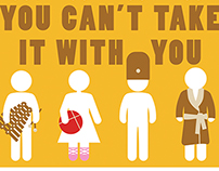"""""""You Can't Take It With You"""" - Event poster"""