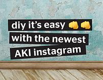 The newest AKI Instagram profile.