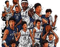 South Korea men's basketball national team . 2014 Inche