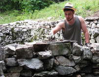 My first drystone wall!
