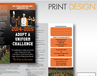 Trifold Design for Uniform Fundraiser