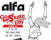 go skate boarding day flyer