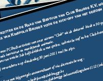 CLUB BRUGGE K.V. menu & invitation