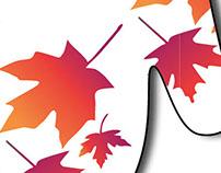 Fall Leaves print design
